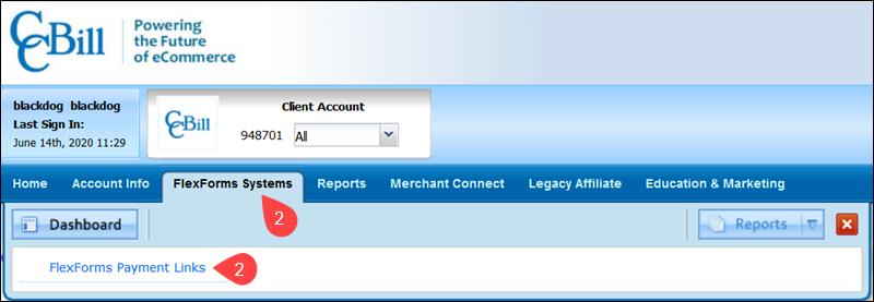 Flexforms Payment Links Ccbill Admin