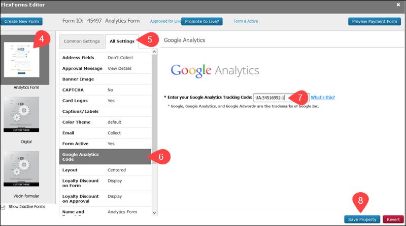 Add google tracking IDs flexform
