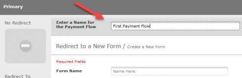 Payment flow name