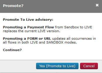 Promote form to live message