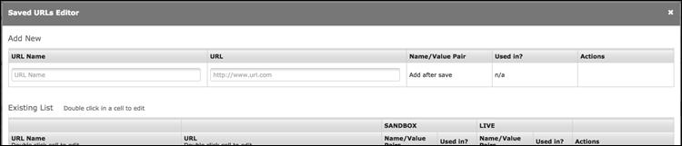Saved URL menu in CCBill FlexForm menu.