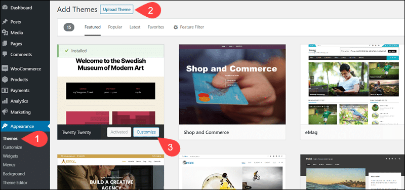 Add or customize new themes in WooCommerce.