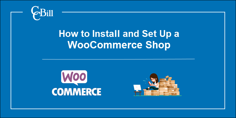 WooCommerce logo and drawn image of shop owner.