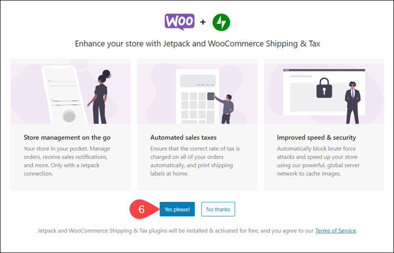 Install Jetpack and WooCommerce Shipping & Tax plugin.
