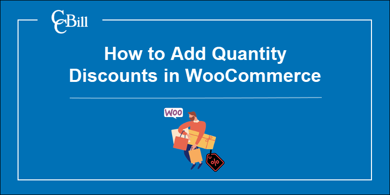 Image showing person buying multiple items at once with WooCommerce logo.