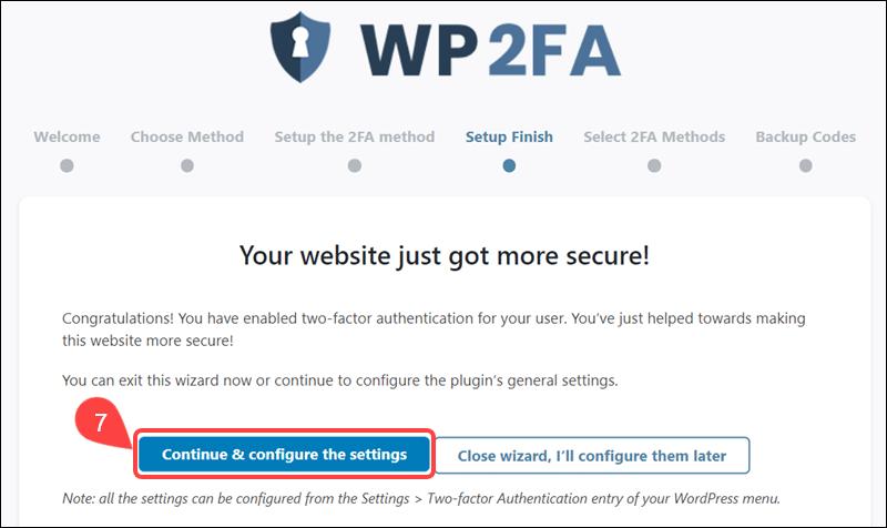 Configure 2FA for multiple users.