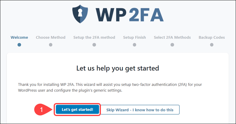 Initial step for implementing WP 2FA.