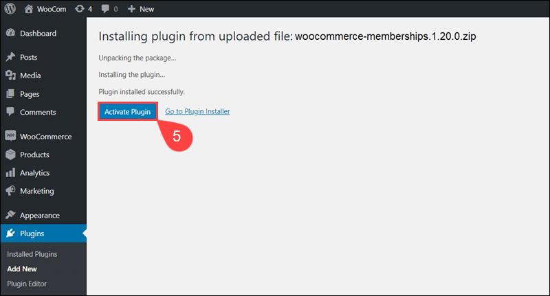Activate WooCommerce Memberships plugin.