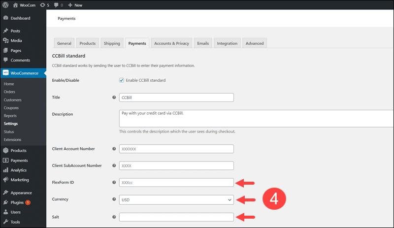 Configure payment gateway plugin.