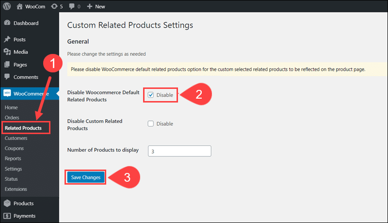 Disable the default related product section.