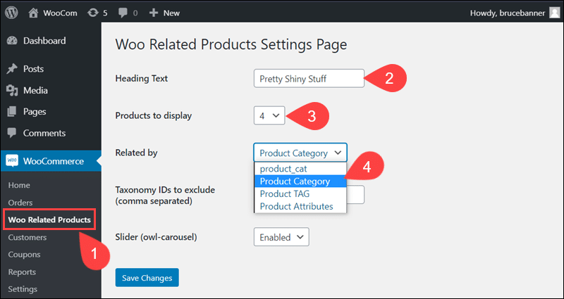 Add product categories with Related Products plugin.