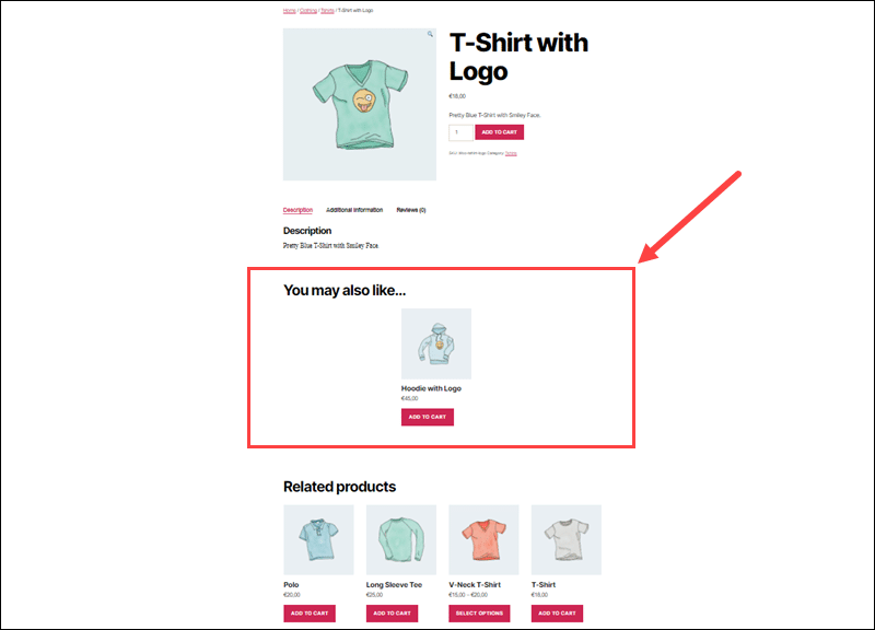 An up-sell on the WooCommerce product page.