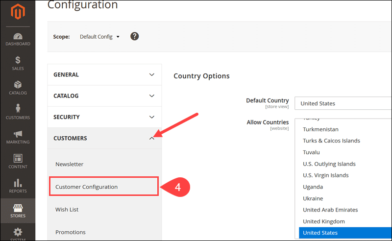 Customer Configuration section in Magento needed to enable CAPTCHA.
