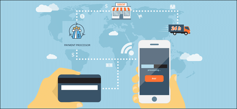 A payment processor that accepts payments globally.