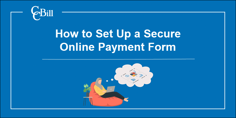 A customer selecting a payment method on a secure payment form.