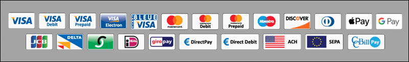 A comprehensive list of payments types offerd by CCBill.
