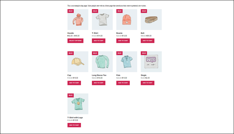 Number of items on sale displayed using the WooCommerce Shortcodes plugin.
