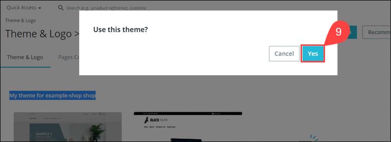 Activate theme imported via URL in PrestaShop.