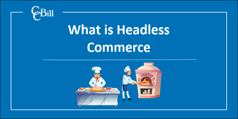 The spearation of backend and frontend services typical for headless commerce.