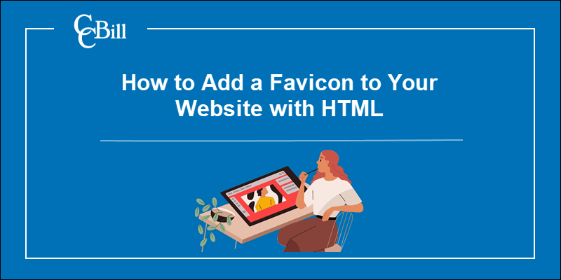 Website owner considering how to improve her website with a favicon.