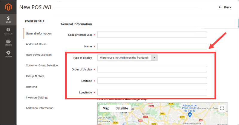 Adding Google Maps to storefront with Advanced Inventory extension.