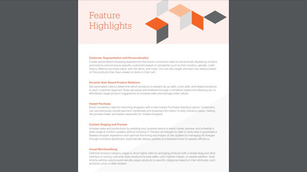 Magento Features Ecommerce Platform