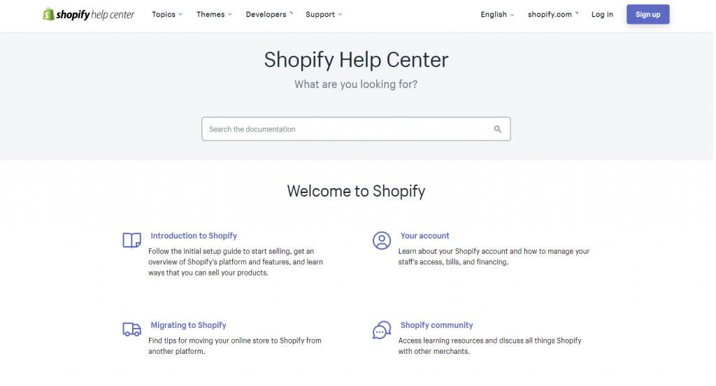 Shopify Support Ecommerce Platform