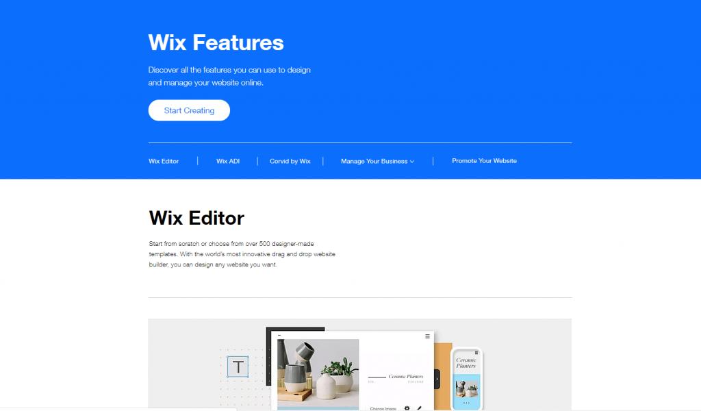 Wix Features Ecommerce Platform