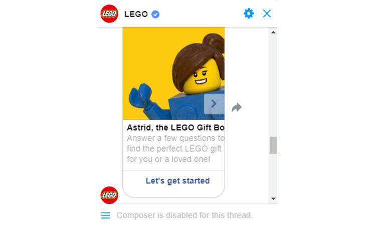 Lego Chatbot Ecommerce