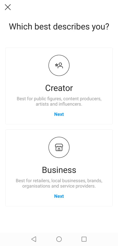 Instagram Business Account Setup Step 4