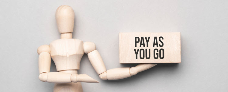 Pay as you go billing model.