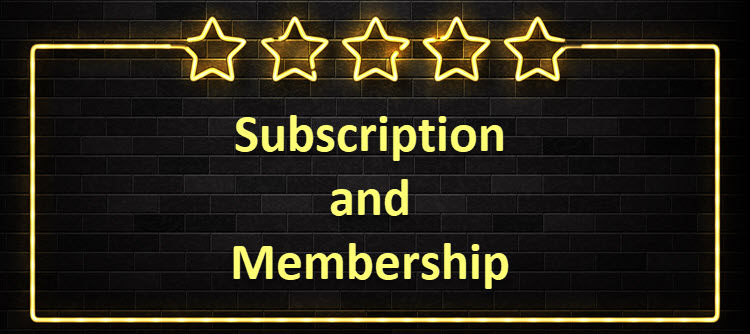 Using subscriptions and memberships.